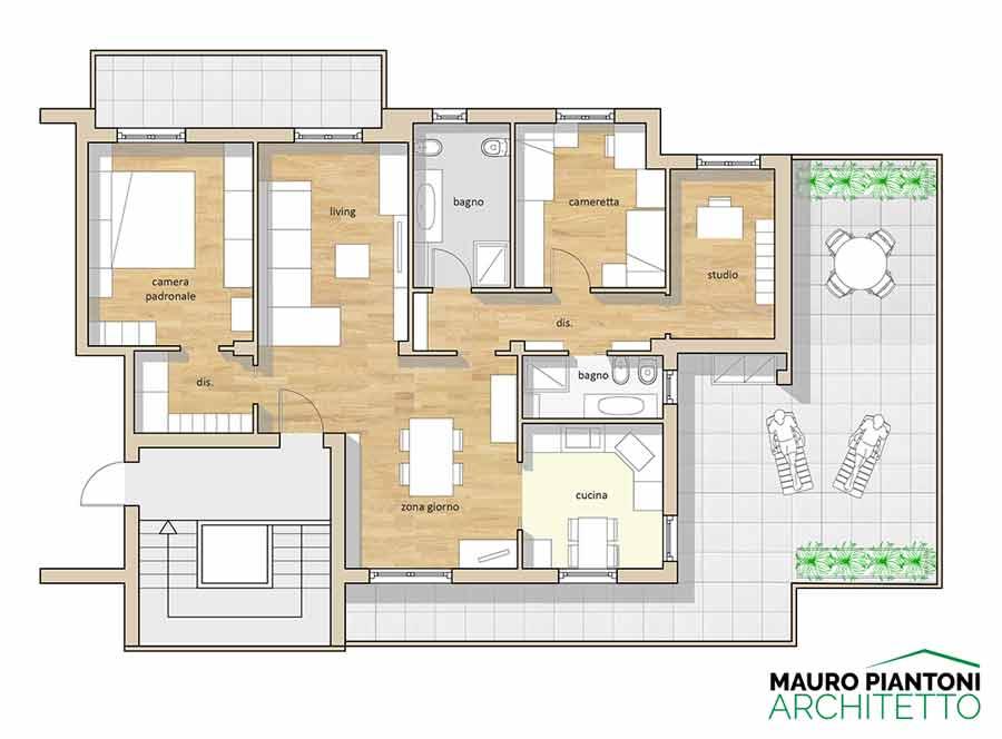 Estremamente Ristrutturazione Casa FE Milano - Studio Piantoni XR89