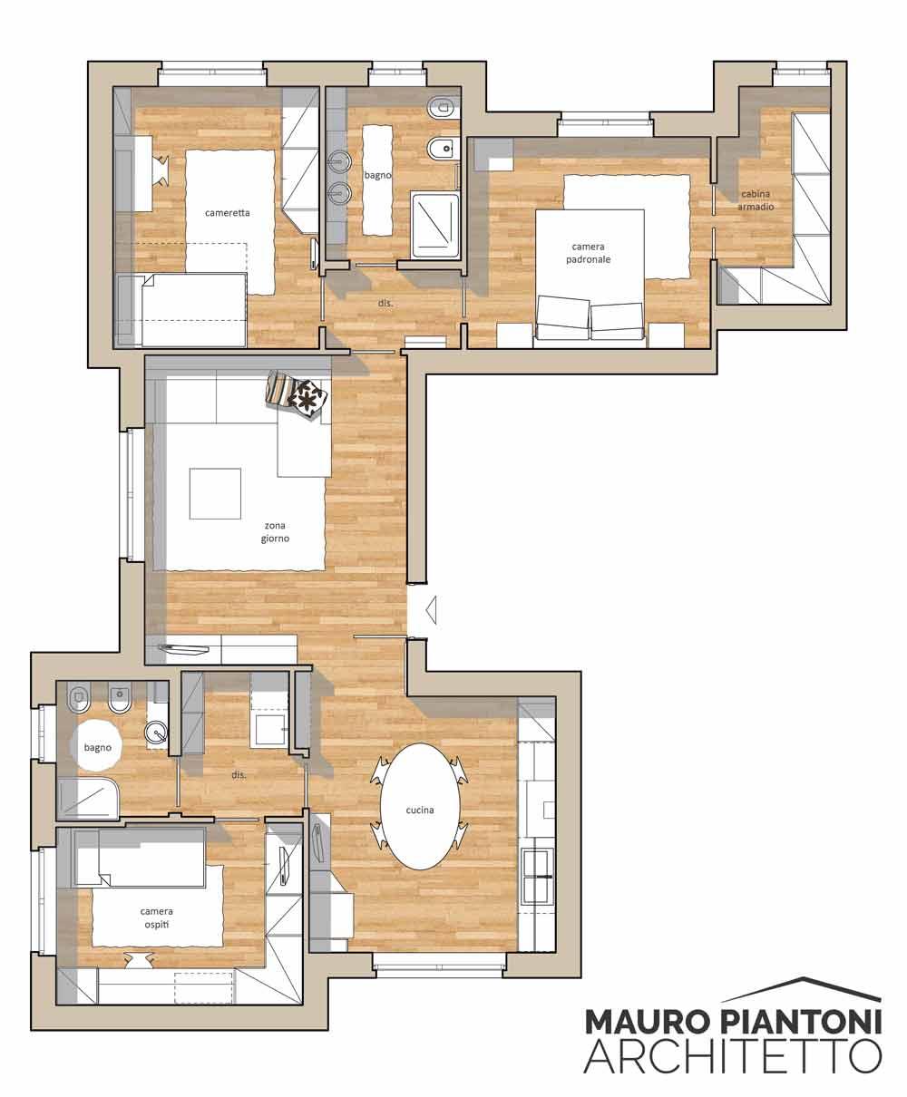 Ristrutturazione di interni casa frr a milano cornaredo - Architetti d interni milano ...